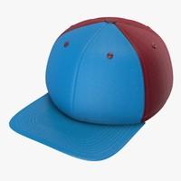 blue maroon baseball cap c4d