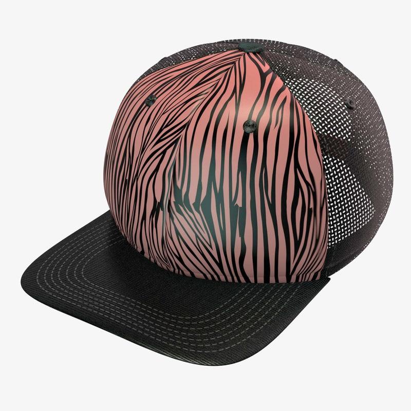 3d zebra baseball cap
