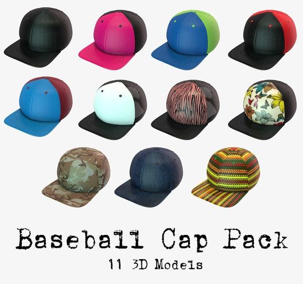 baseball cap pack obj