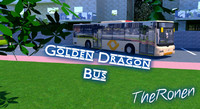 3d golden dragon 12m bus model