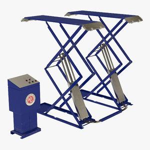 automotive scissor lift 3d obj