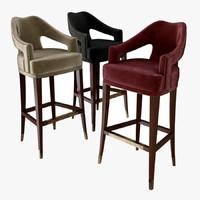 bar chair brabbu 3d model