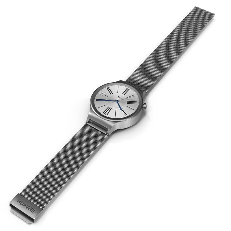 huawei watch metal band 3d model