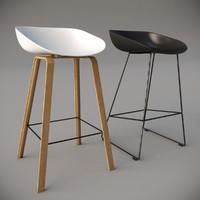 3d stool interior realistic