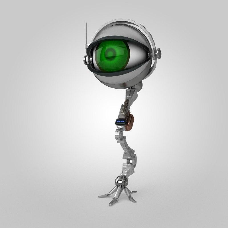 3d model eye robot