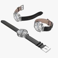 Huawei Watch Leather Band 3D Models Set