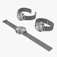 Huawei Watch Metal Band 3D Models Set