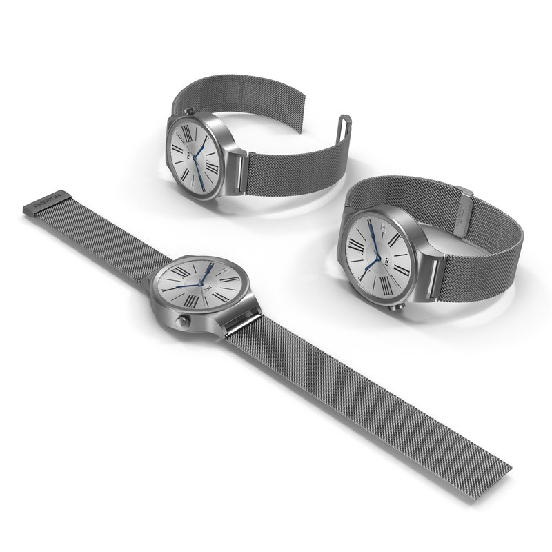 3d model huawei watch metal band