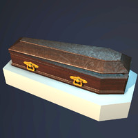 old wooden coffin