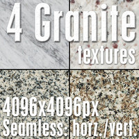 4 High Res Seamless Granite Textures Vol.03 Part1