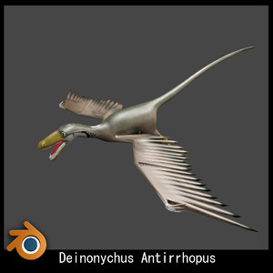 3d deinonychus small dinosaur model