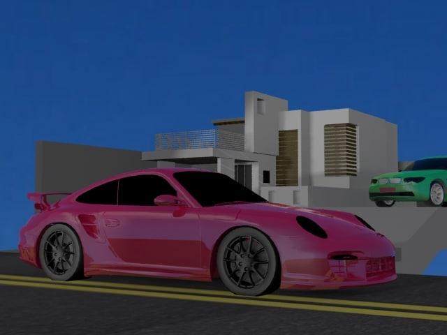 worak house 2 car 3d model
