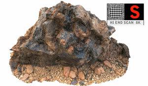 gigantic volcanic stone 8k 3d obj