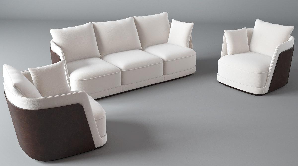 3d model bentley-richmond sofa