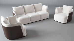 3d model bentley-richmond sofa