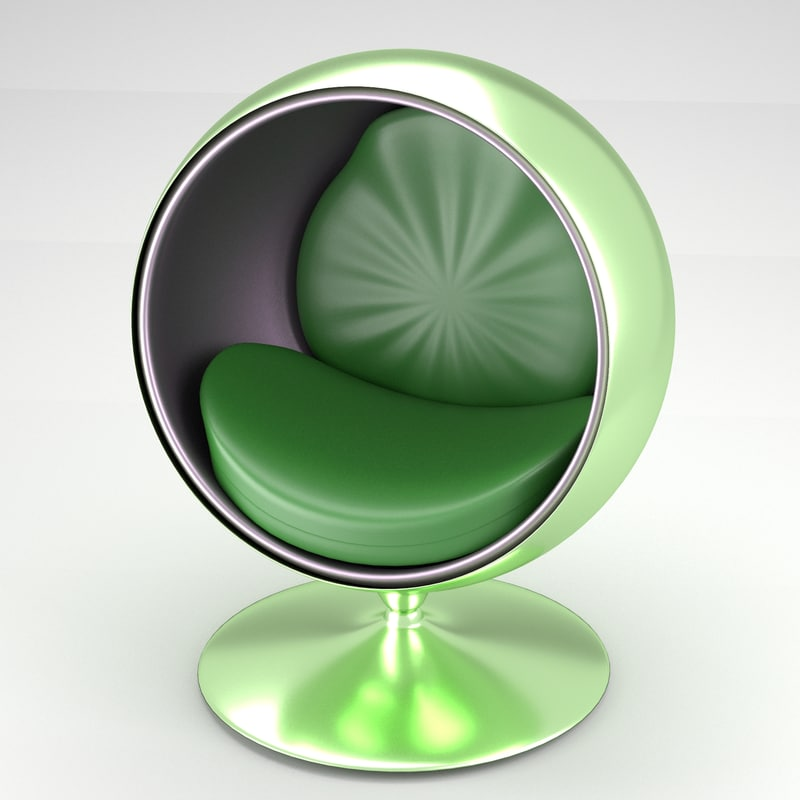 3d model spherical modern chair