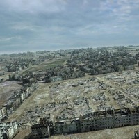 ruined city ww2 warsaw 3d model