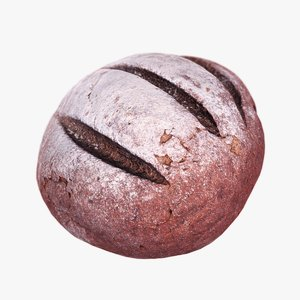 brown bread 3d max