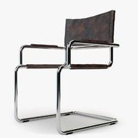 armchair metal obj