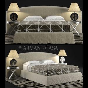 armani casa bed 3d max