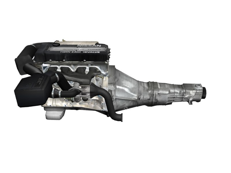 nissan sr20det engine parts 3d 3ds