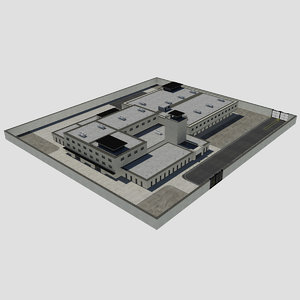 - modern prison 3d max
