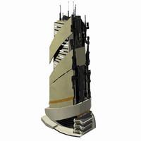 Sci Fi Building Modern City - Fantasy Scifi Futuristic Tile 3