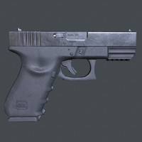 3d model of gun glock 21