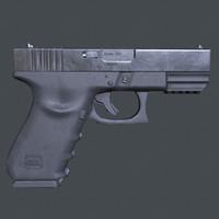 Lowpoly Glock 21 Handgun