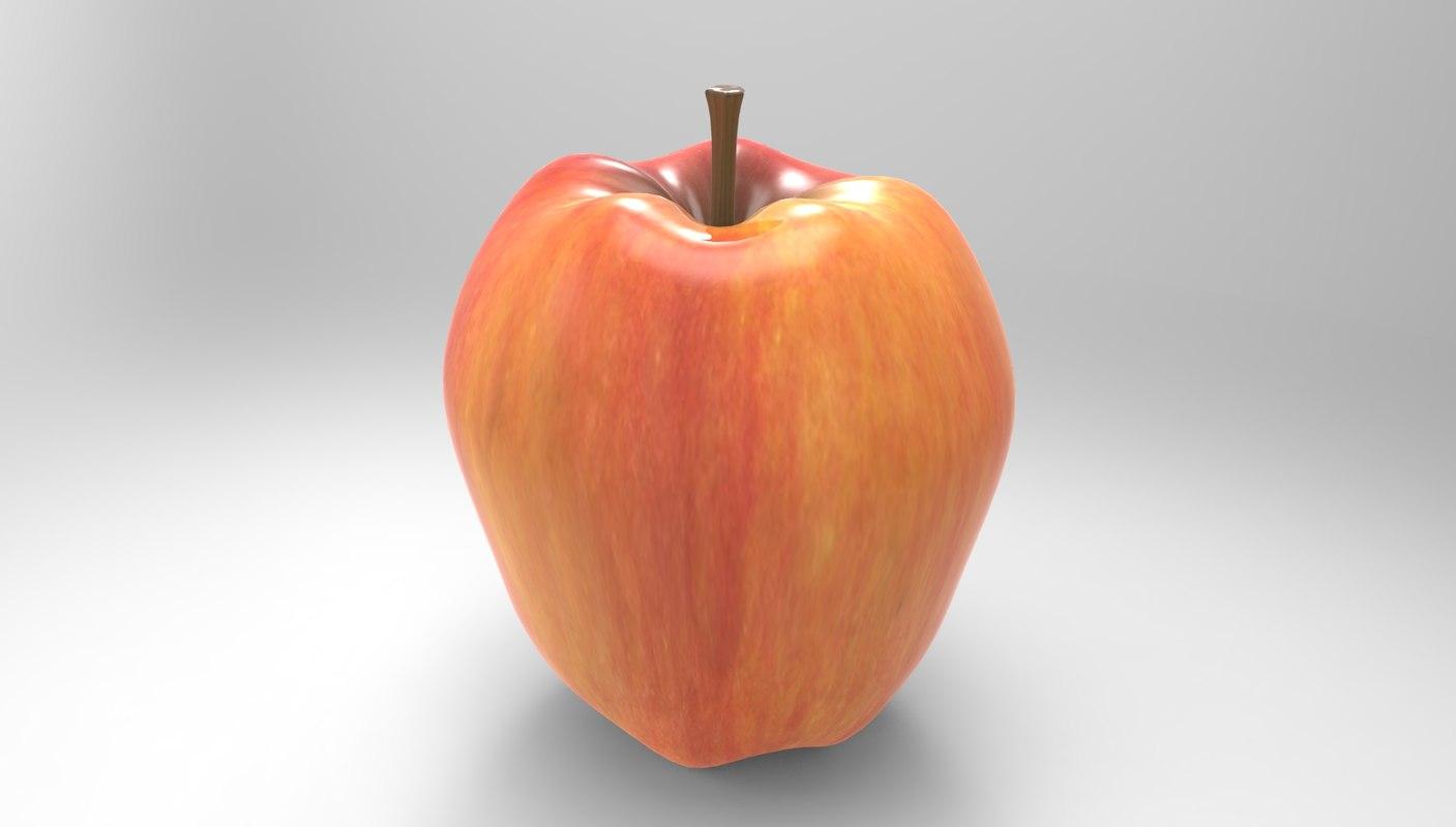 apple red c4d