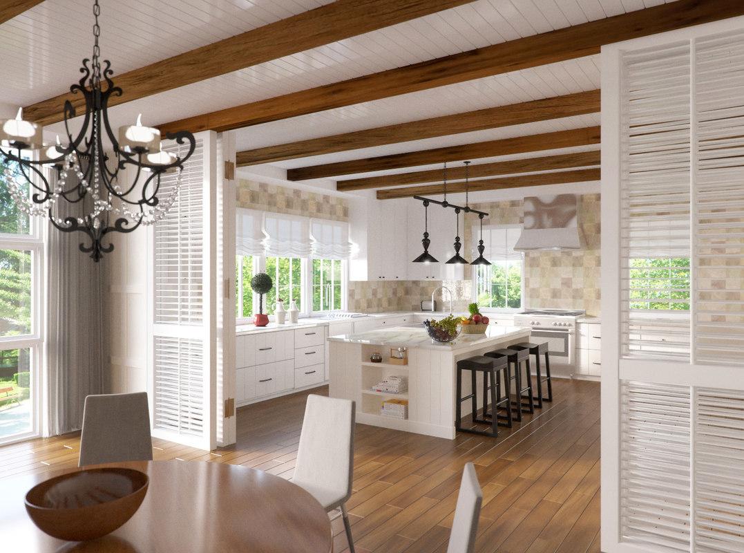 Corona + Vray Kitchen Scene Interior
