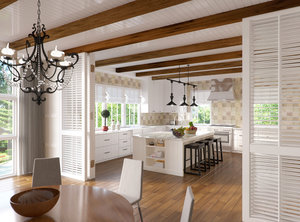 corona scene kitchen 3d model
