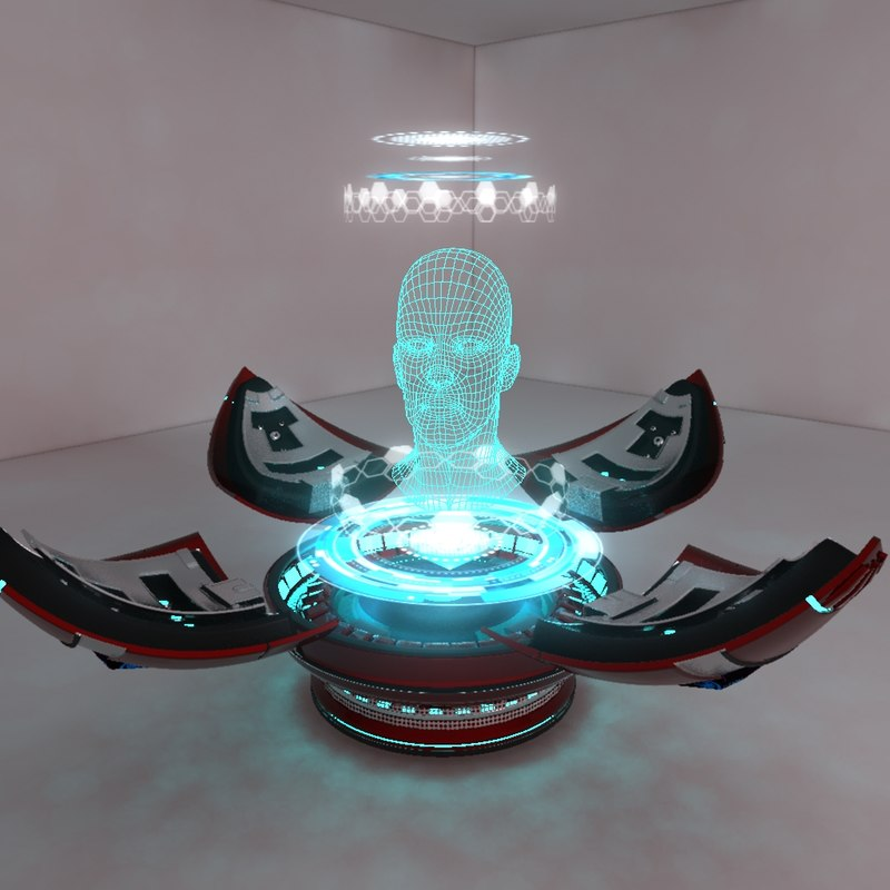 3dsmax holographic projector