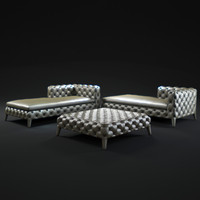 3d model of windsor-longue-chaise