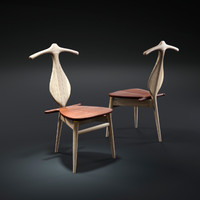 3d model hans-j-wegner-valet-chair