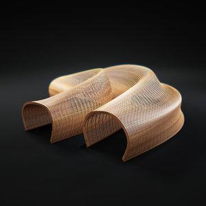 3d model matthias-pliessnig-wooden-sculptural-seats