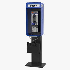 3d model public phone