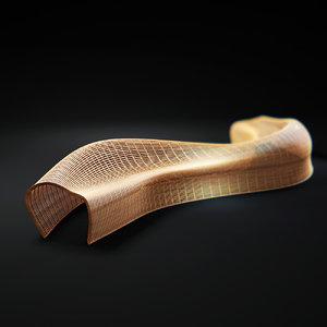 3d max steam-bent-wooden-sculptural-seats