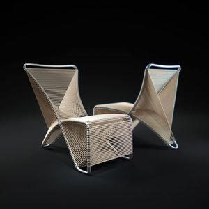 3d weave-chair
