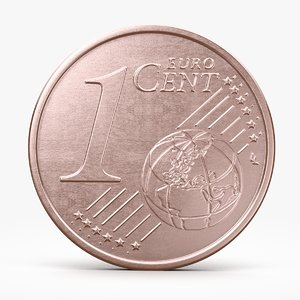 3d euro cent model