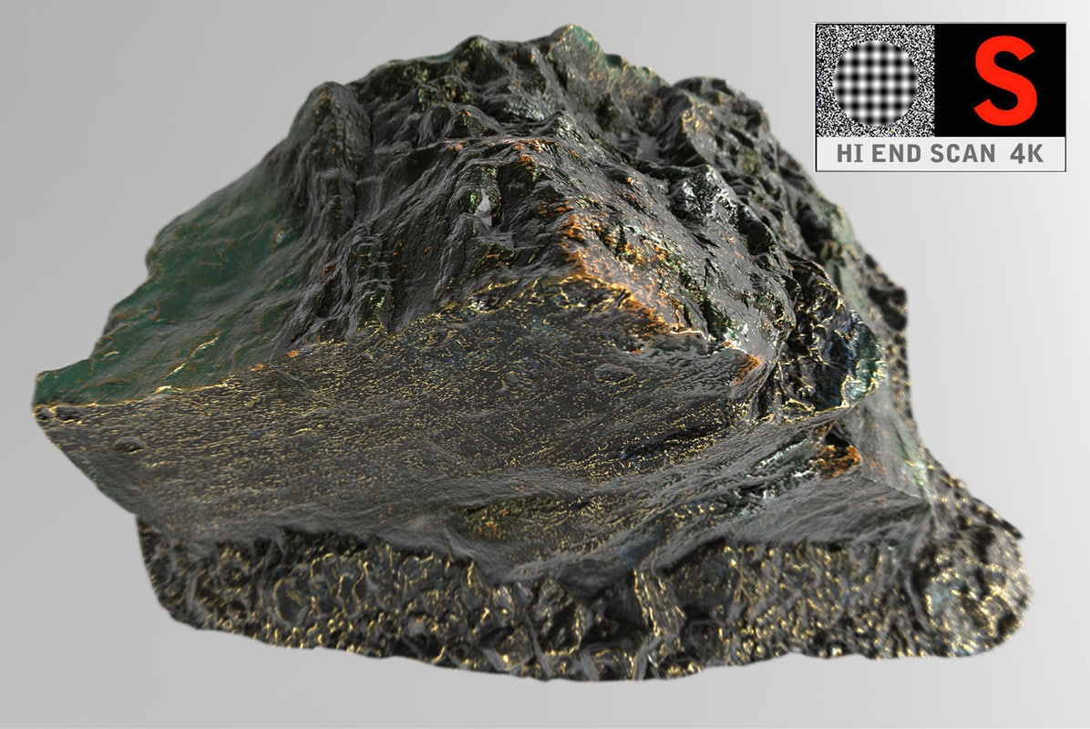 3d model alien artifact rock 4k