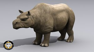 toxodon extinct mammal 3d model