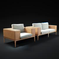 3d model tropez-armchair-and-sofa