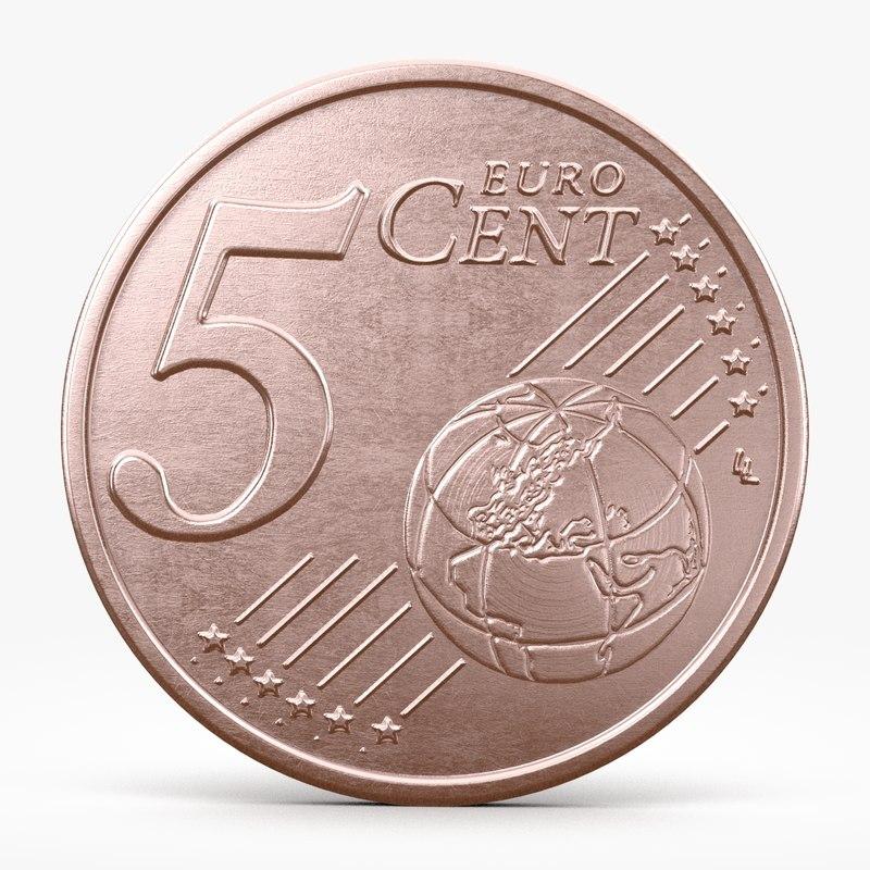 euro cent 3d model