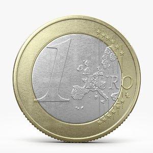 3d model euro coin