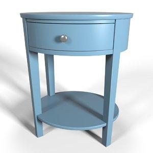 3d accent table design model