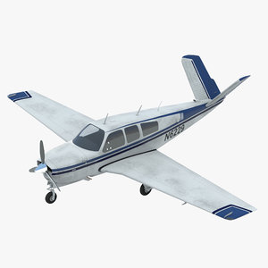 aircraft beechcraft bonanza 3d model