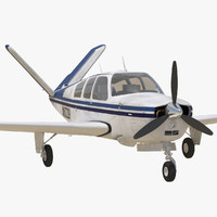 Civil Utility Aircraft Beechcraft Bonanza S35 V Tail Rigged