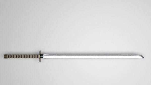 free katana sword 3d model