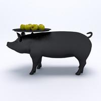 moooi pig table 3d model
